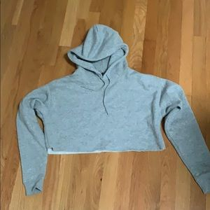 Urban outfitters cropped grey hoodie